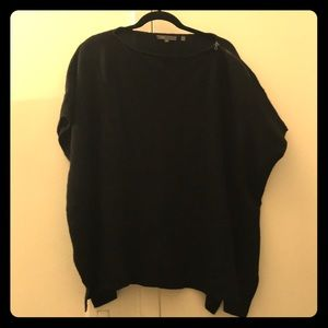 Vince ribbed sweater poncho